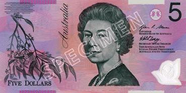 5 Dollar - Recto - Autralie