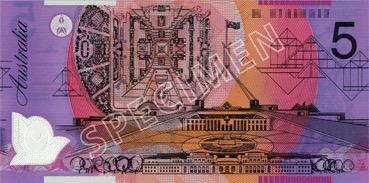 5 Dollar - Verso - Autralie
