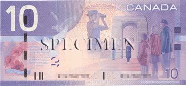 10 Dollar - Verso - Canada