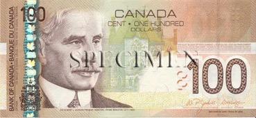 100 Dollar - Recto - Canada