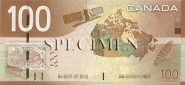 100 Dollar - Verso - Canada