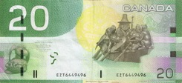 20 Dollar - Verso - Canada