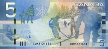 5 Dollar - Verso - Canada