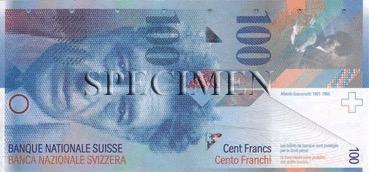 100 Franc - Recto - Suisse
