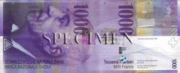 1000 Franc - Recto - Suisse