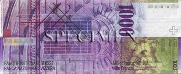 1000 Franc - Verso - Suisse