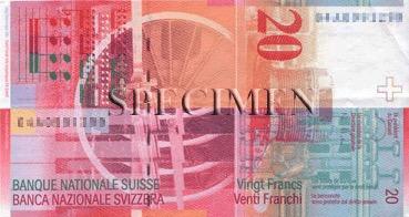 20 Franc - Verso - Suisse