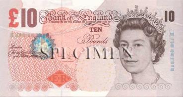 10 Livre - Recto - Angleterre
