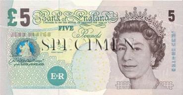 5 Livre - Recto - Angleterre