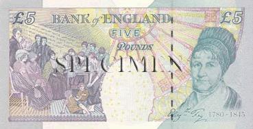 5 Livre - Verso - Angleterre