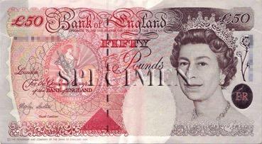 50 Livre - Recto - Angleterre