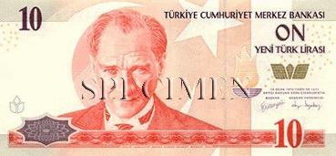 10 Livre - Recto - Turquie