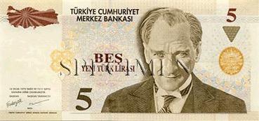 5 Livre - Recto - Turquie