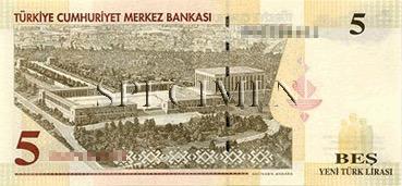 5 Livre - Verso - Turquie