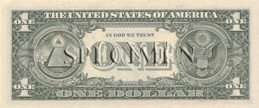 1 Dollars - Verso - Etats Unis