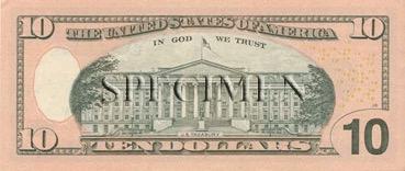10 Dollars - Verso - Etats Unis