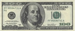 100 Dollars - Recto - Etats Unis
