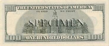100 Dollars - Verso - Etats Unis