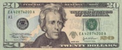 20 Dollars - Recto - Etats Unis