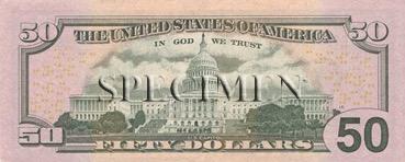 50 Dollars - Verso - Etats Unis